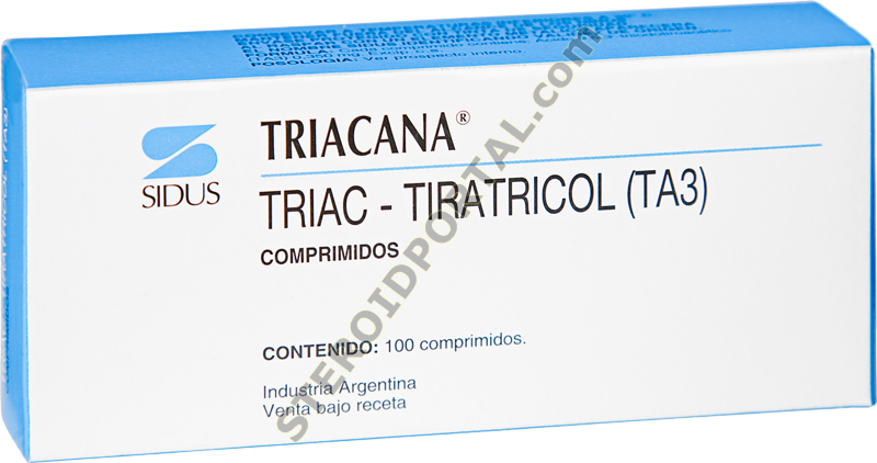 TRIACANA 0.35 mcg (3,5,3?-triiodothyroacetic acid - Tiratricol)