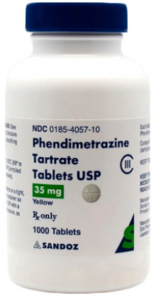 PHENDIMETRAZINE TARTRATE